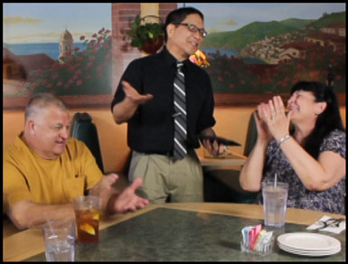 Family Fun with Magician Wayne at Mama Petrillo's Pizza and Italian Restaurant in Temple City, CA 91780