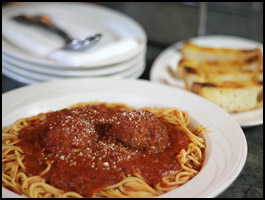 Yummy! Spaghetti and Meatballs at Mama Petrillo's Pizza and Italian Restaurant in Temple City, CA 91780