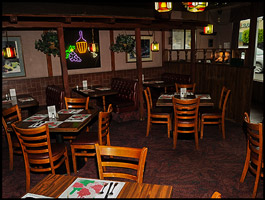 Intimate Dining Setting at Mama Petrillo's Pizza and Italian Restaurant in Temple City, CA 91780